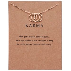 Jewelry - Karma gold tone necklace with inspirational card